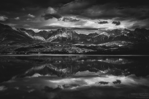 black and white landscape